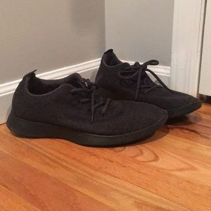 Men's original fabric allbirds black gray sz 11